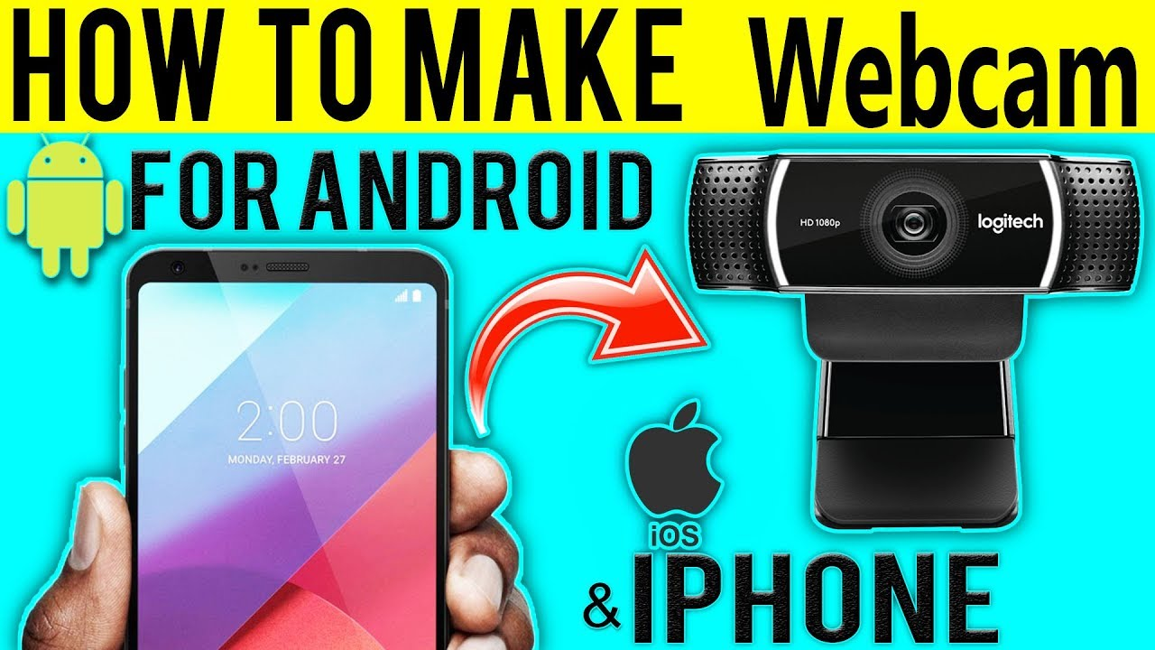 HOW TO USE SMARTPHONE AS WEBCAM for Your Computer- tutorial