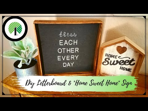DIY Dollar Tree Letterboard & Home Sign