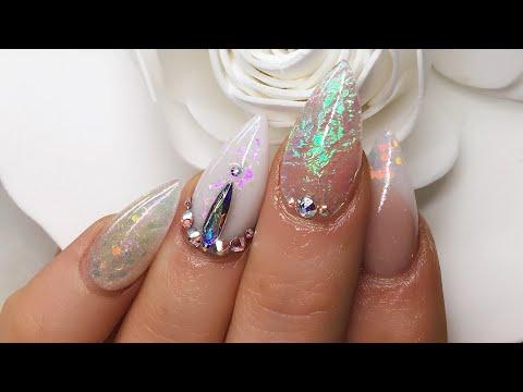 Acrylic Nails   Magic Sparkle   Angel Paper