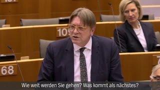 Flammende Rede im EU-Parlament: Guy Verhofstadt kritisiert Ungarns Premier scharf