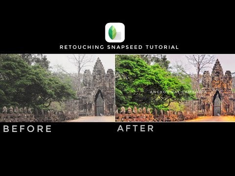 Retouching Snapseed photo tutorial 2017