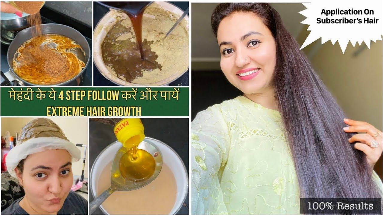 ये 4-STEP Henna Application Follow करें और पाए 100% Hair Growth | बालों को Grow करने का Secret तरीका