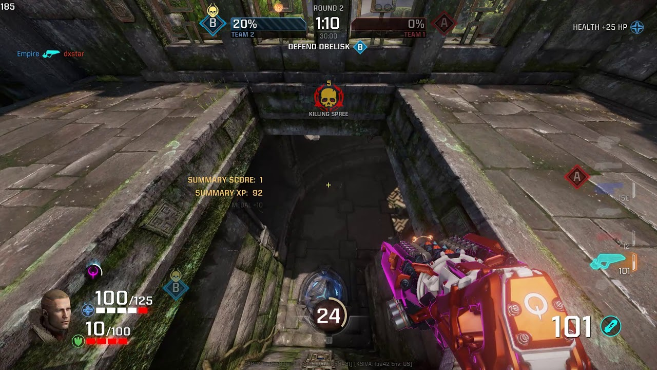 Quake Champions Powerup Massacre Lightning Gun God