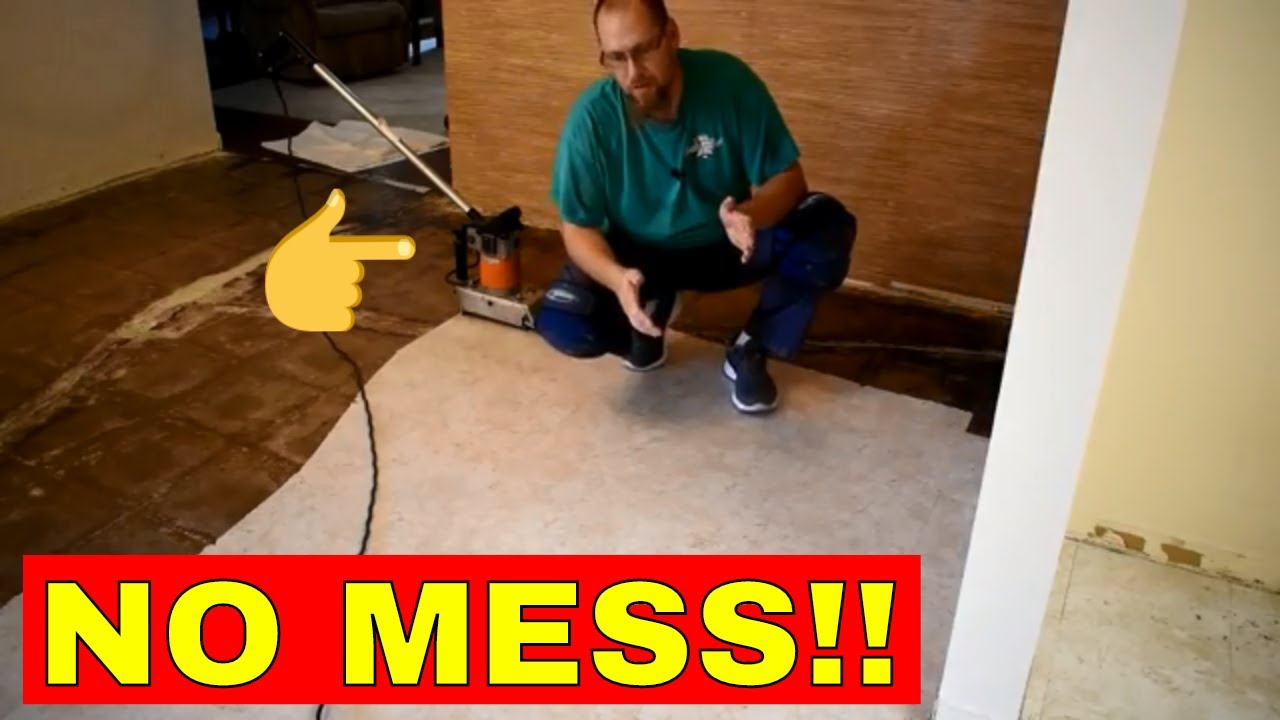 removing peel and stick flooring