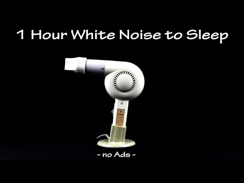 Hair Dryer Sound 16 (Static) |  ASMR | 1 Hour White Noise To Sleep