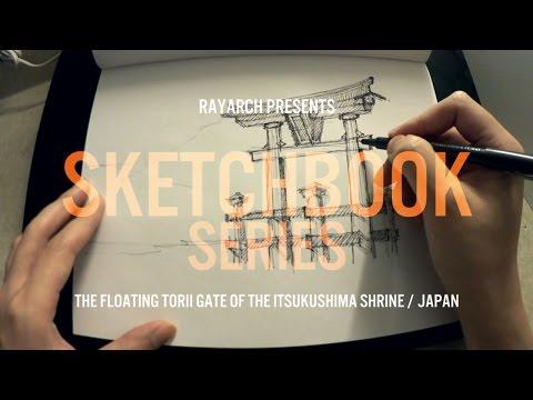 ARCHITECTURAL SKETCH of JAPANESE TORII GATE | Sketchbook Series