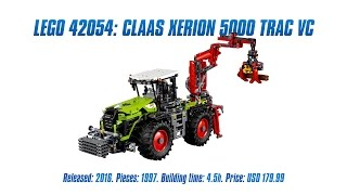 'LEGO Technic 42054: CLAAS XERION 5000 TRAC VC' Unboxing, Parts List, Speed Build & Review