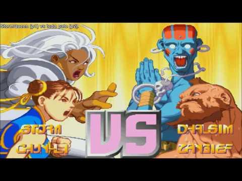 [HD] - Fightcade - Xmen Vs Street Fighter - StormQueen(USA) Vs Tudo Pato(BRA)