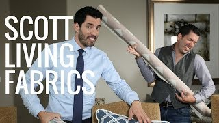 Premier Prints-Scott Living-Property Brothers-HORIZON-DRIZZLE-Luxe Linen Fabric-Or Color Choice-54 wide-Fabric by the yard-decorator fabric