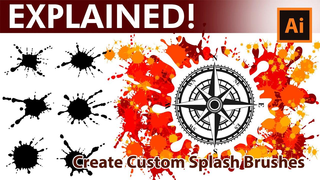 How to generate custom Splash Brushes in - Adobe Illustrator Tutorial