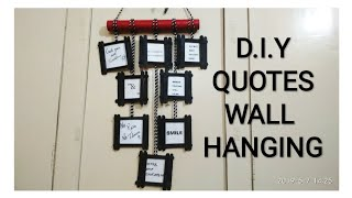 D.i.y Quotes Wall Hanging