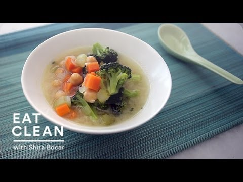 Vegetable-Miso Soup with Chickpeas Eat Clean With Shira Bocar