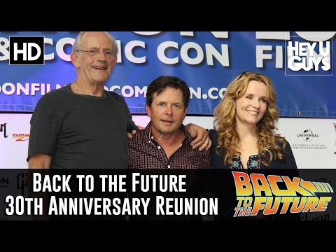 Back to the Future 30th Anniversary Cast Reunion - Michael J. Fox, Lea Thompson & Christopher Lloyd