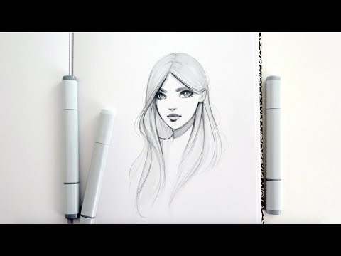 Three Copic Marker Character Sketches- Speed Drawings