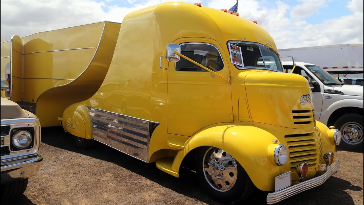 1941 Gmc Coe V8 Truck And Race Car Trailer Youtube