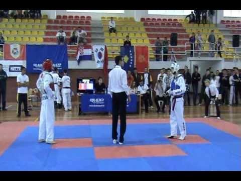 Xhersi Kurti(blue) Vs Rilind Kuqi (red) Taekwondo Wtf