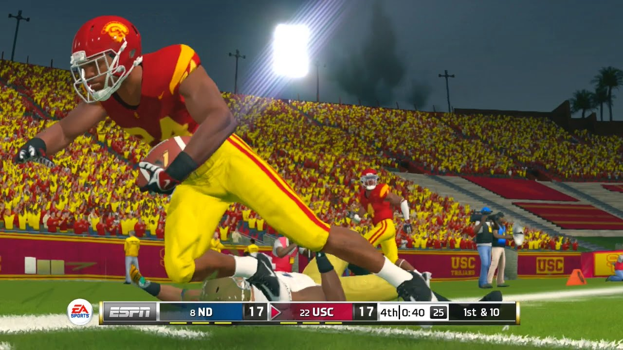 ncaa football 14 2016 2017 season notre dame fighting irish vs usc