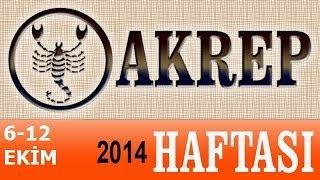 AKREP Burcu, HAFTALIK Astroloji Yorumu, 6-12 EKİM 2014
