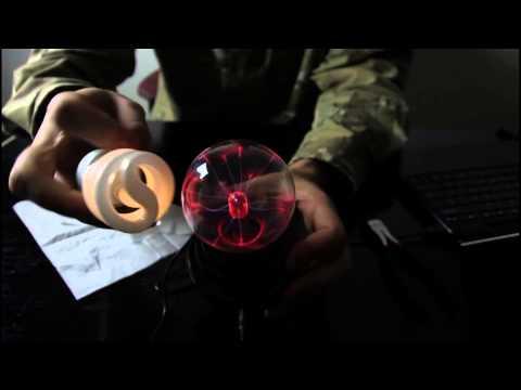 Plasma Globe Makes a Light Bulb Glow Wireless Electricity