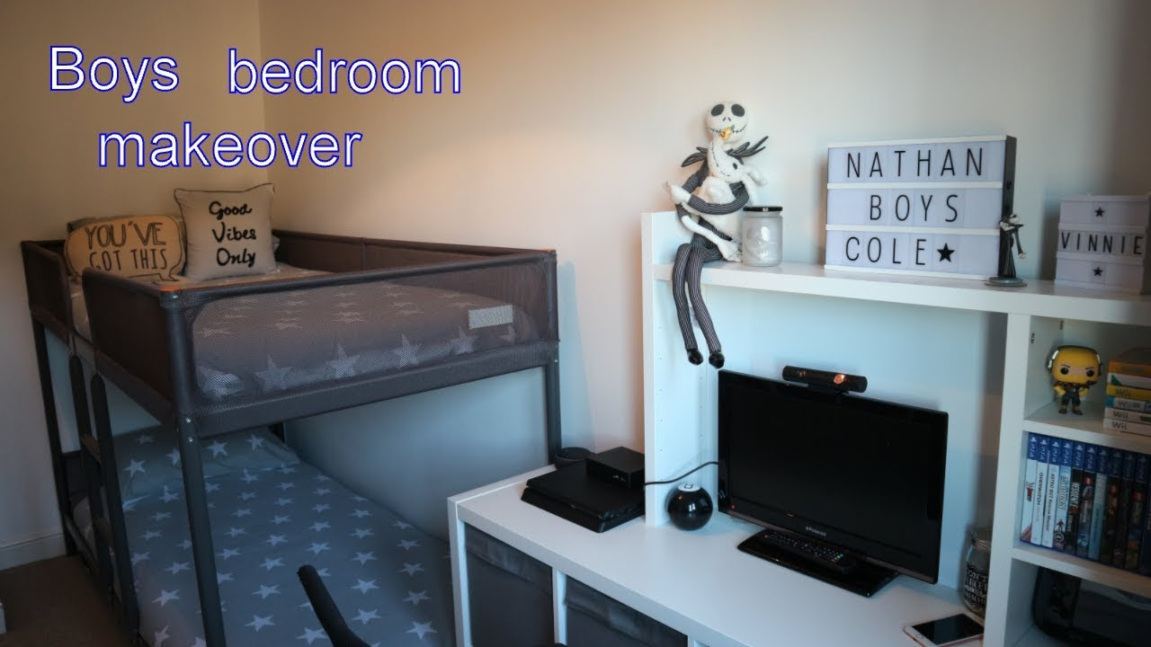 BOYS BEDROOM TOUR / BEDROOM MAKE OVER / FORTNIGHT / GAMING - YouTube