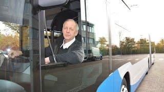 Testfahrt mit dem neuen Stadtwerke Gelenkbus