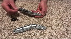 How to assemble the Stanley carpet knife