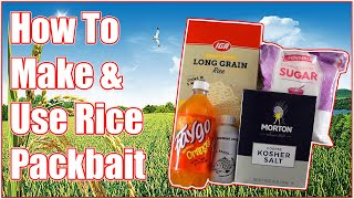 Simplest Easiest How to Make Rice Pack Bait Recipe For Carp and Catfish