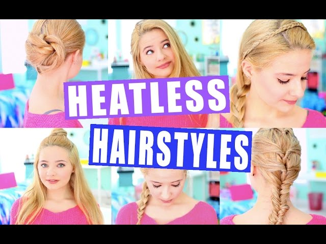 Easy Heatless Hairstyles Tumblr Inspired Youtube