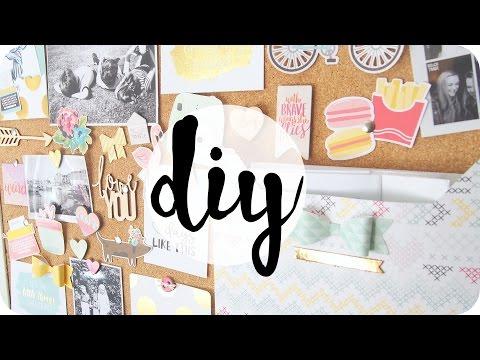 DIY | Cork board / Moodboard Decoration & Organisation