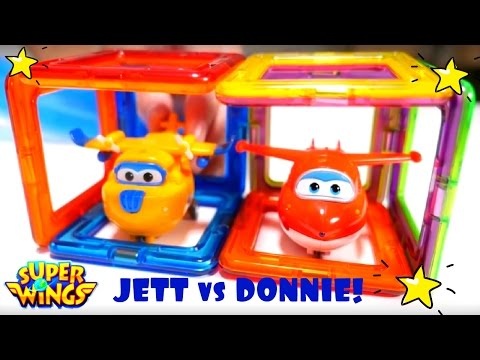 SUPER WINGS Jett Vs Donnie Toy Airplanes! Airport SUPER WINGS Toys In Kid's Videos