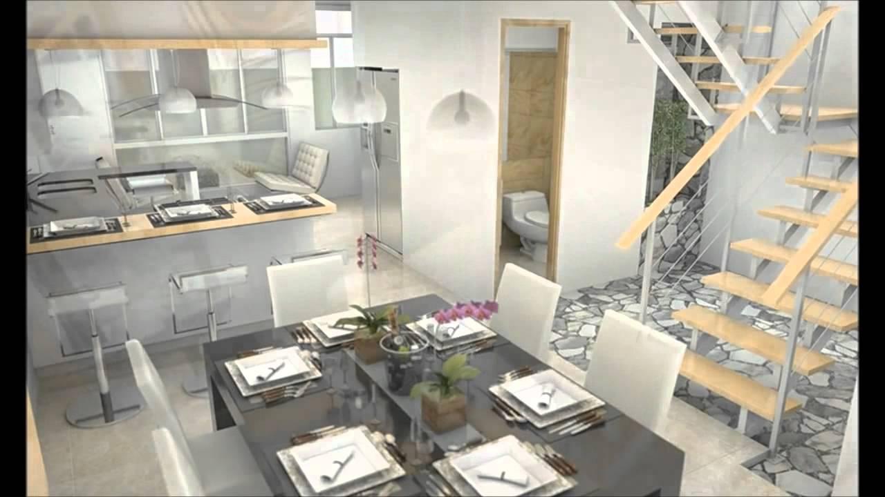 Casa moderna minimalista interior de 3 pisos youtube for Interior de casas modernas