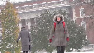 Syracuse Orange welcomes the white snow