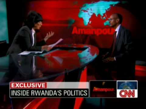 CNN : Christiane Amanpour Interview Paul Kagame 19 march 2010 (English)