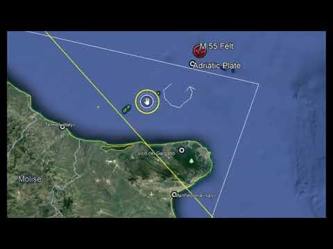 Earthquake Adriatic Sea M 5.5, Italy, Croatia, Bosnia - Felt Reports