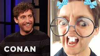 Thomas Middleditch Lusts After Zach Woods On Snapchat - CONAN on TBS