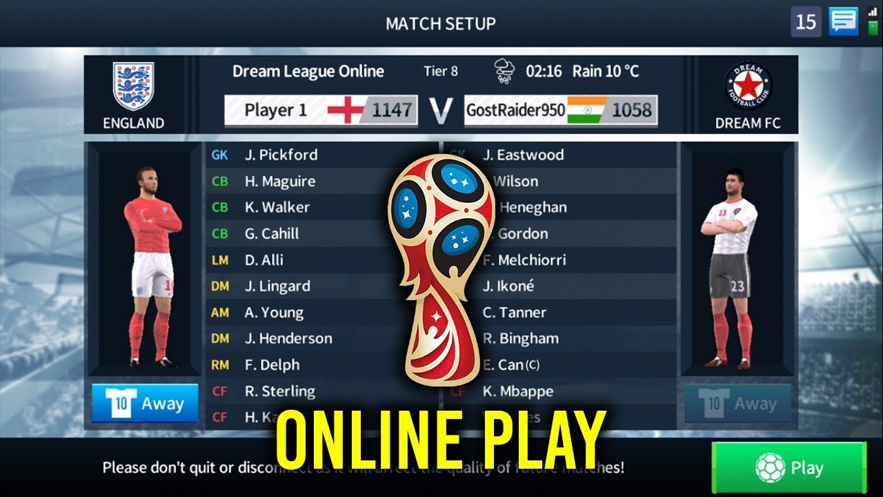 England Online Play - Dream League Soccer 2018 Online Match | Droid Game  Cheat