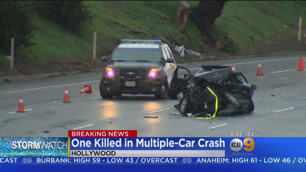 1 Killed In 101 Freeway Crash On Rain-Slick Roads In Hollywood