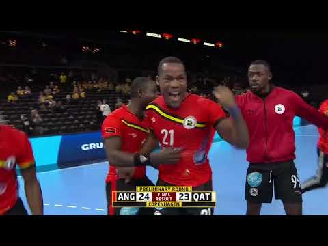 Unimaginable last-second win for Angola against Qatar | IHFtv - Germany Denmark 2019