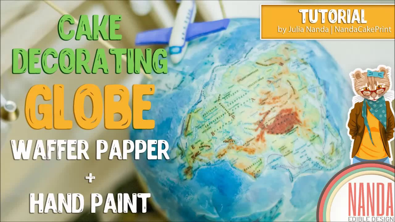 3d globe travel cake how to with the icing artist youtube.