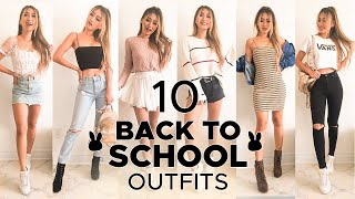 10 Back To School Outfits | Brandy Melville, SheIn, Revolve