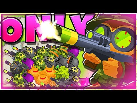 ONLY SNIPERS... WINS!? BTD6 Challenge:: BLOONS TOWER DEFENSE