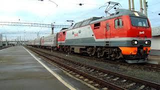 Прибытие ЭП2К-265 с поездом №346Е Адлер — Нижневартовск