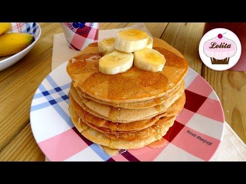 Receta de pancakes americanos de plátano con miel | Pancakes saludables