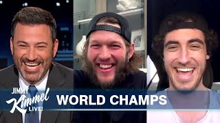 Clayton Kershaw & Cody Bellinger on Dodgers World Series Win