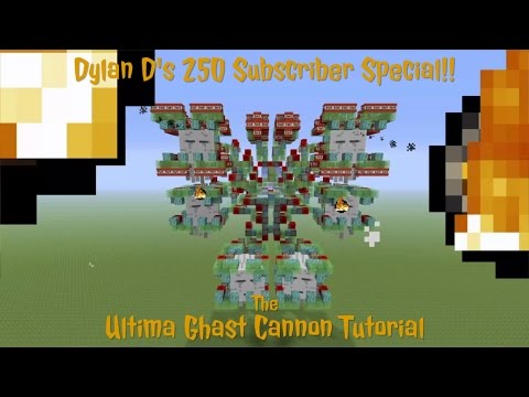 Ultima Ghast Cannon Tutorial - Massive Weaponized Mob Mech In Minecraft - 250 SUBSCRIBER SPECIAL