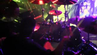 God Forbid -- Overcome -- Live Drum Cam -- 11/17/12 Scout Bar - Houston, TX