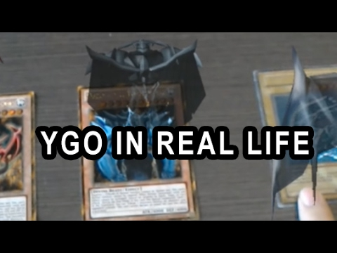 YuGiOh IN REAL LIFE! 3D CARDS, MONSTERS IN 3D WITH HOLO LENS VIRTUAL REALITY, MY THOUGHTS