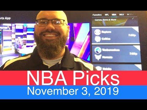 NBA Picks (11-3-19) | Basketball Predictions | ATS, O/U, Money Line | Quick Recap & Shoutouts