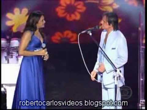 Roberto Carlos Especial 2009 com Dira Paes cantam juntos Cama e Mesa