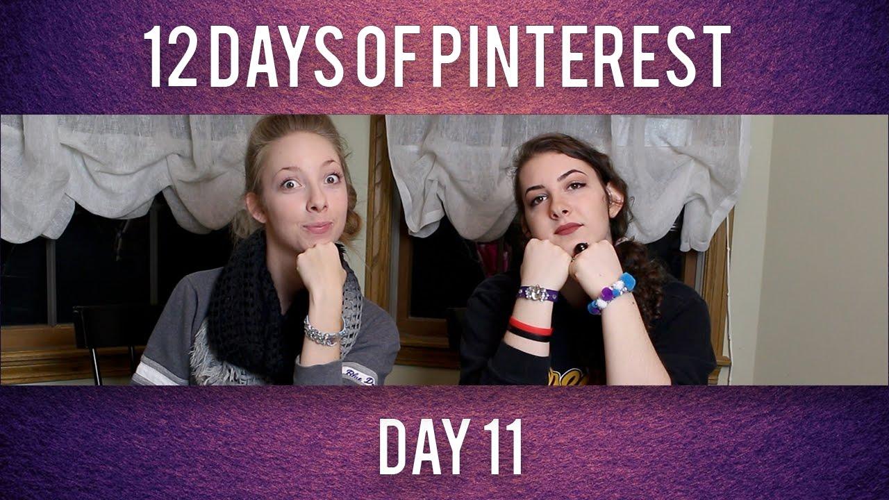 The 12 Days of Pinterest Day 11: Popsicle Stick Bracelets - YouTube